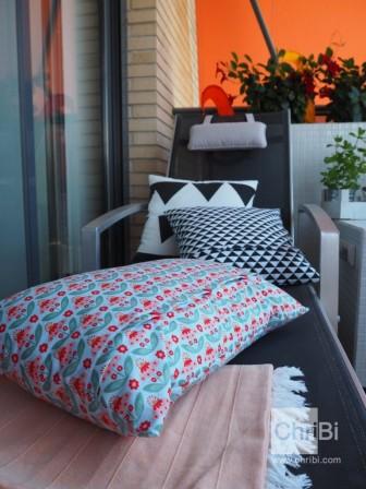 Kissen-Blumen Balkon